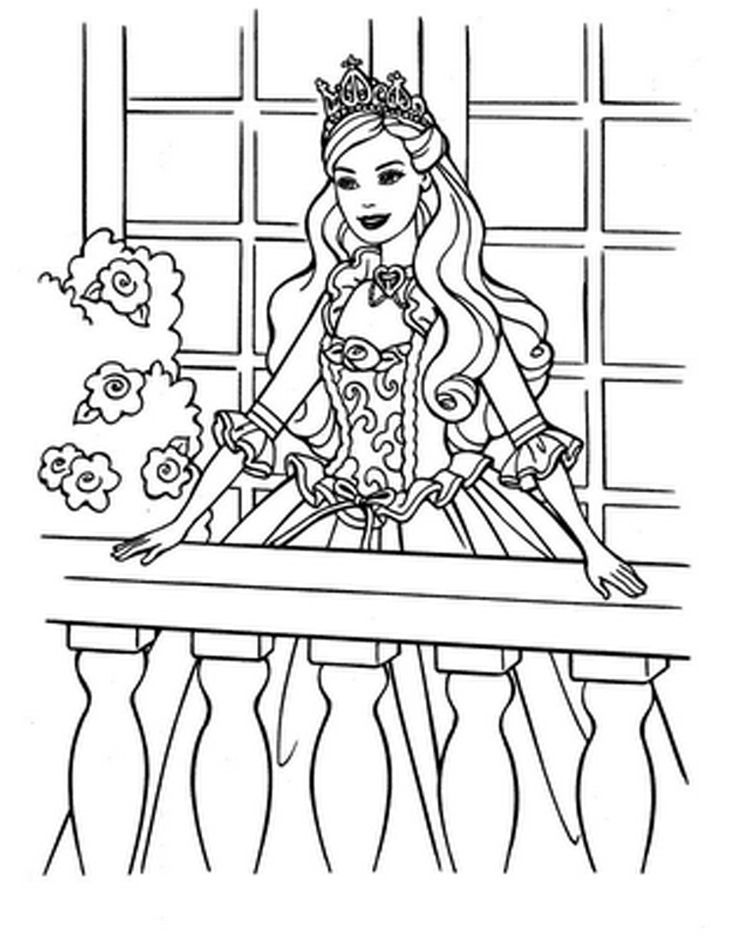 medieval princess free kids - Free Kids Colouring Pages