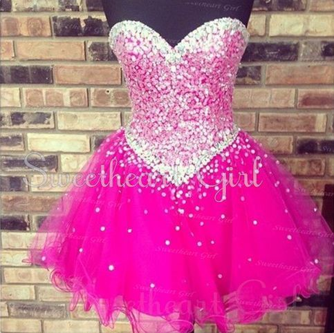 Charming Strapless Sequins Prom Dress, Short Homecoming Dresses, Cocktail Dresses $168.99