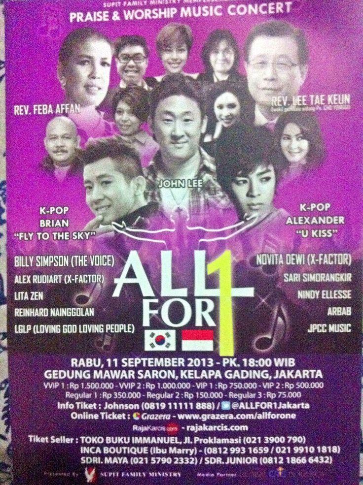 Praise n Worship Concert Tomorrow at Gedung Mawar Sharon Kelapa Gading - Jakarta