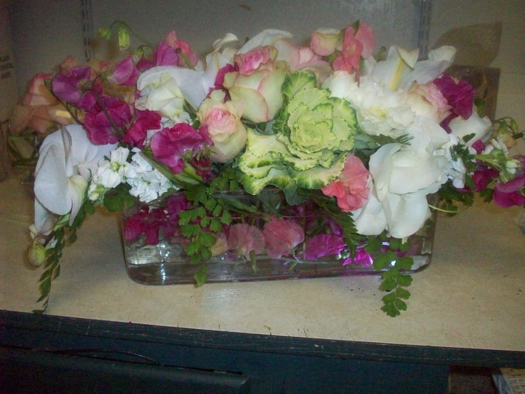 Long and low centerpiece by robyn flowers pinterest