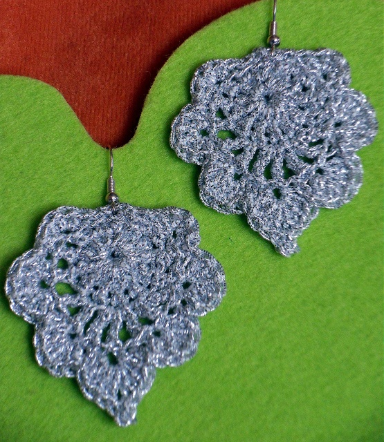 Another pair of Crocheted Earrings by Daniela H. Wonderful pattern!