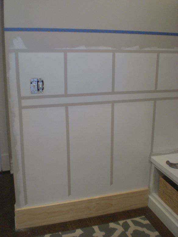 board and batten wall pre-painted