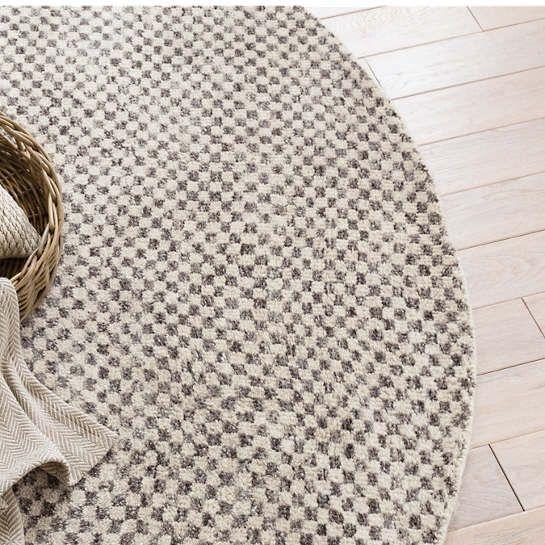 Citra Grey Hand Knotted Rug Round Dash Albert Floor Decor
