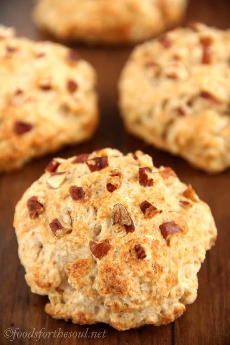 Maple Pecan Scones -- ready in just 30 minutes! SO soft & tender. Nobody ever guesses that they're lightened up!