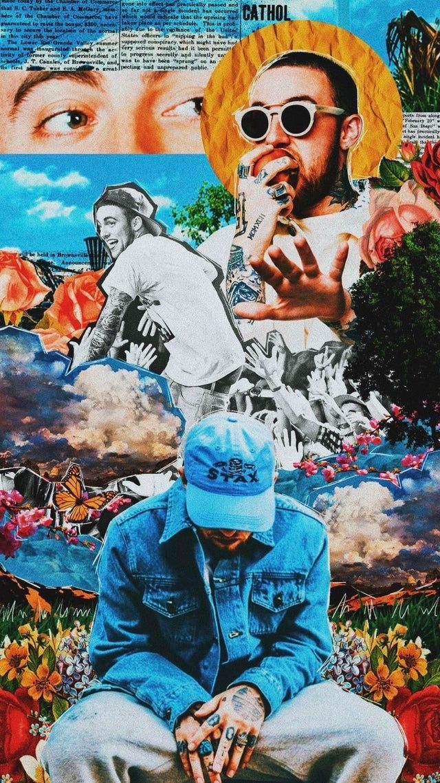 Current Wallpaper Of The Late Mac Miller Iwallpaper Mac Miller Tattoos Mac Miller Rapper Art