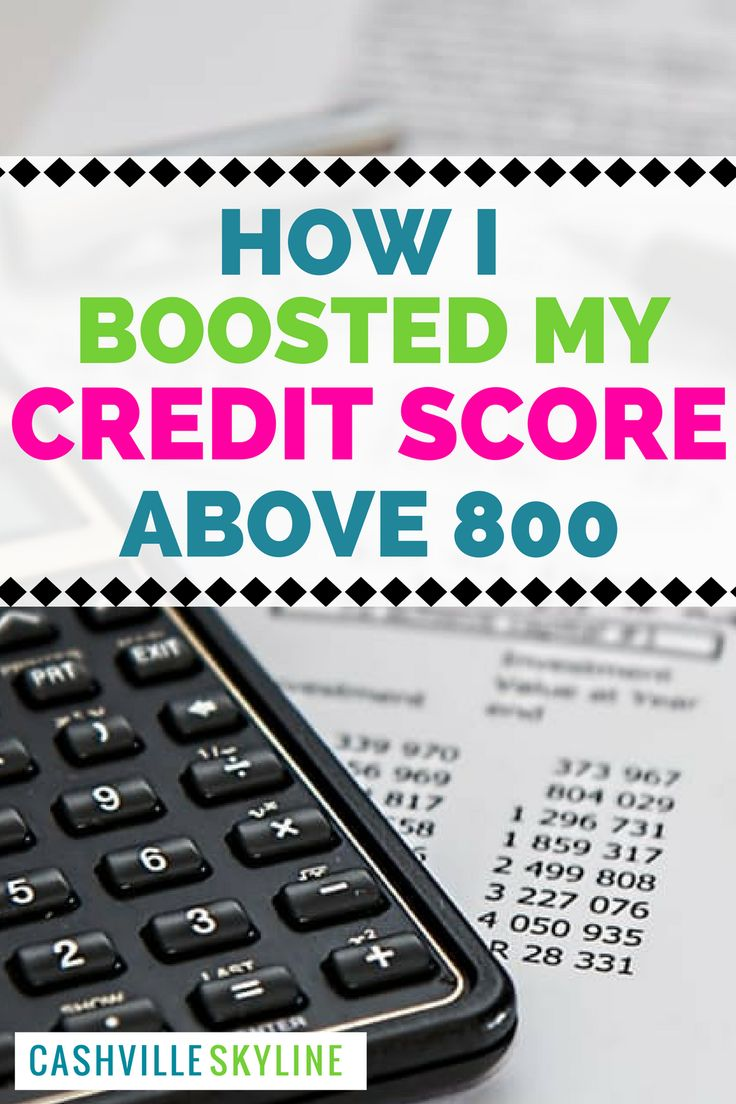 How I Boosted My Credit Score Above 800