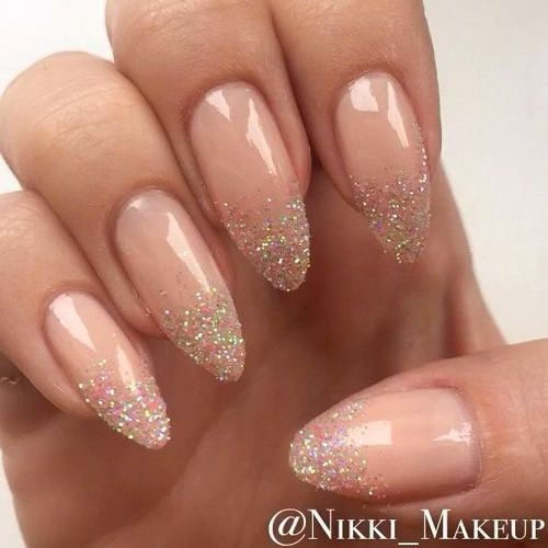 Almond Nails are goals baby! Almost all almond nails are acrylic nails or fake n…