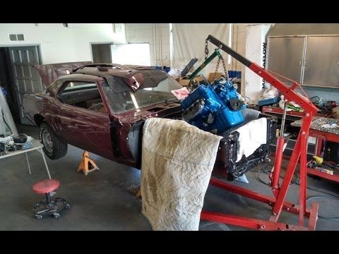 Motor and Transmission Back In! 1969 Mustang Restoration Part 44! Mustang 50th anniversary - YouTube