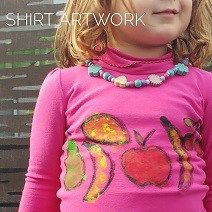 DIY Fruit Inspired Artwork on Kids Shirts   Play With Food