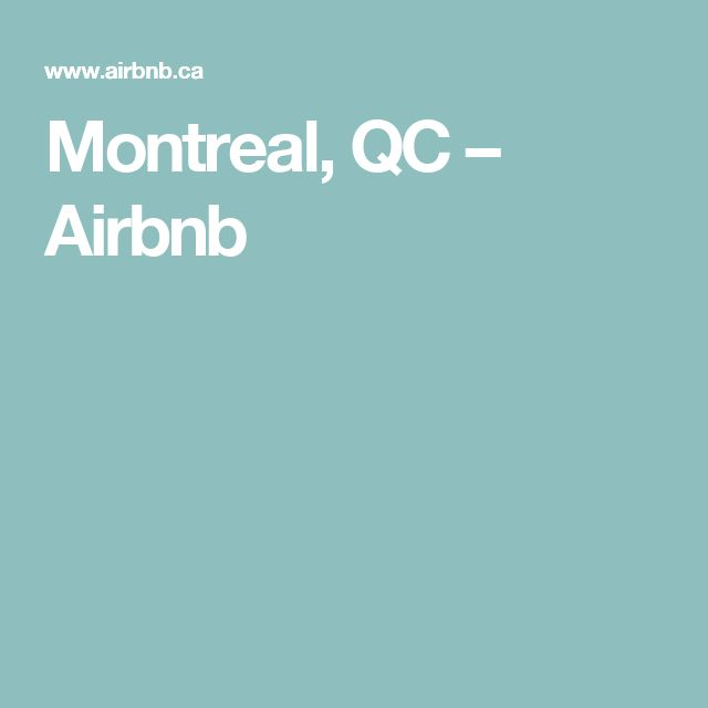 Montreal, QC – Airbnb