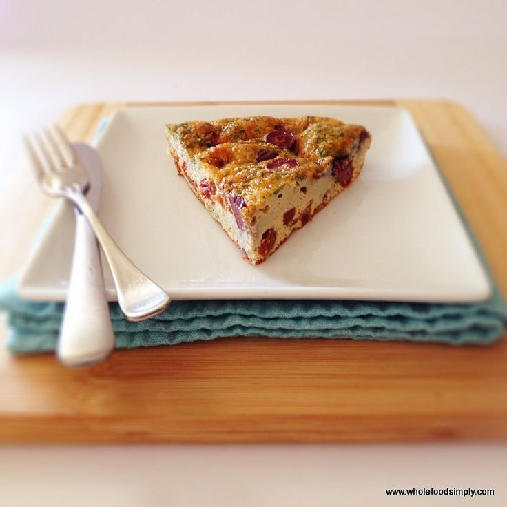 4 Ingredient Quiche.  Quick, simple and delicious!  Free from gluten, grains, dairy and refined sugar.  Enjoy!