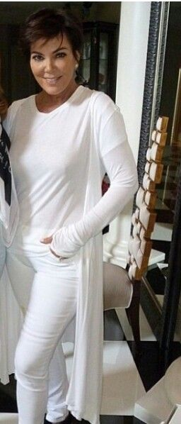 Kris jenner - how to wear white