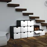 Geniale Faltboxen, 4er- oder 8er-Set Mit wenigen Handgriffen: Schuh- oder Vorratsschrank, Schreibtisch-Container, Badregal, ...