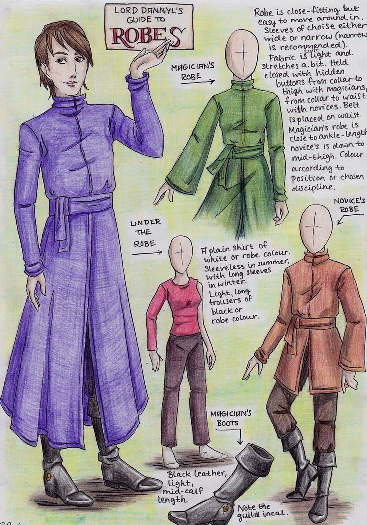 Lord Dannyl's Guide to Robes by Perhone.deviantart.com on @deviantART