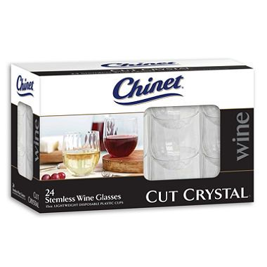 Chinet Stemless Plastic Wine Glasses (24ct.) $6.86