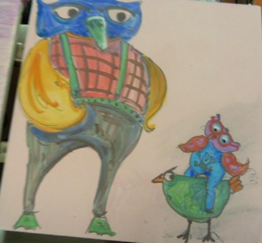 Dipinti di gufi e civette a breve su http://www.etsy.com/shop/LabLiu
