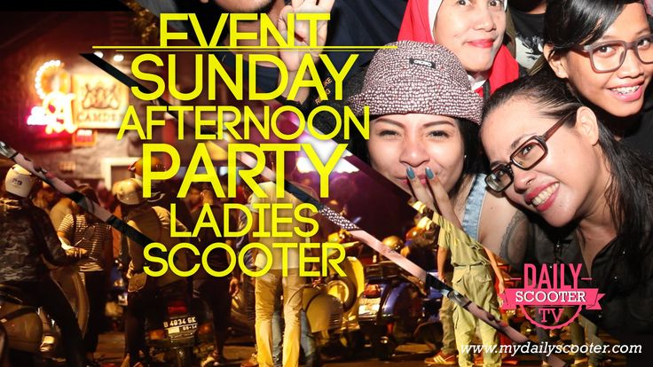 Sunday Afternoon Party – Ladies Scooter   My Daily Scooter http://www.mydailyscooter.com/sunday-afternoon-party-ladies-scooter-2/ do not forget to subscribe youtube channel