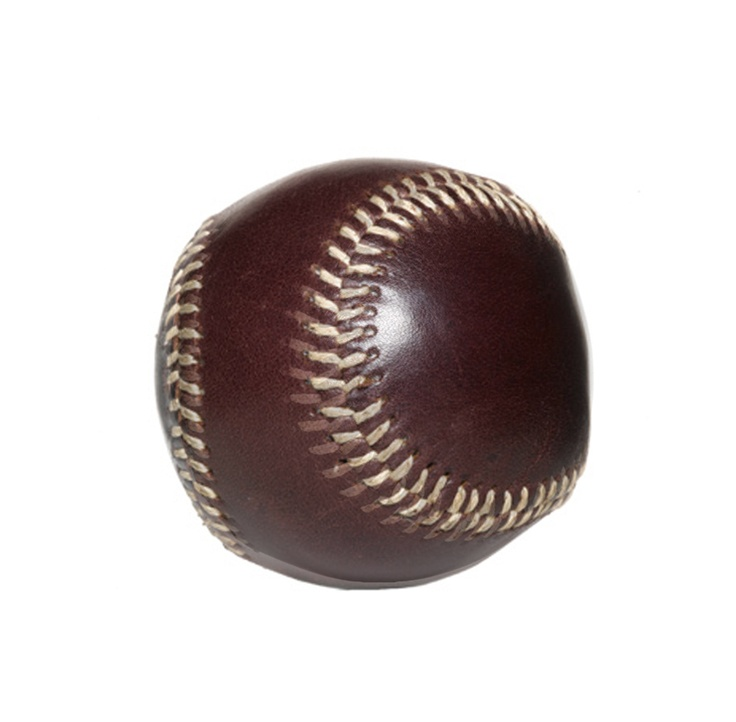 leather (not pvc) baseball. hard to find, beautiful to use.
