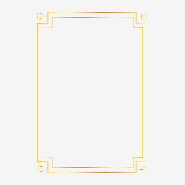 Gold Frame Design Clipart Png Vector Element Gold Wedding Golden Wedding Frame Png And Vector With Transparent Background For Free Download Gold Frame Wedding Frames Frame Design