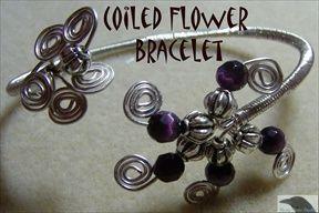 Coiled Flower Bracelet Pattern at Sova-Enterprises.com
