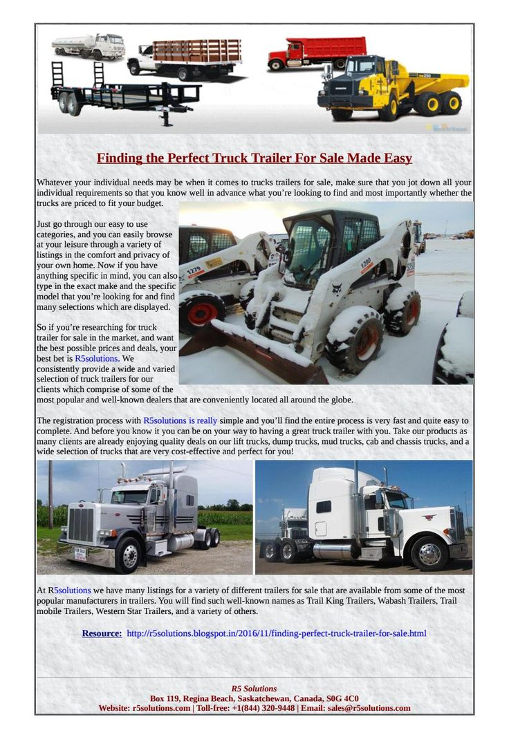 Visit R5 Solutions and browse through online database of new and used heavy trucks and semi-trailers for sale!