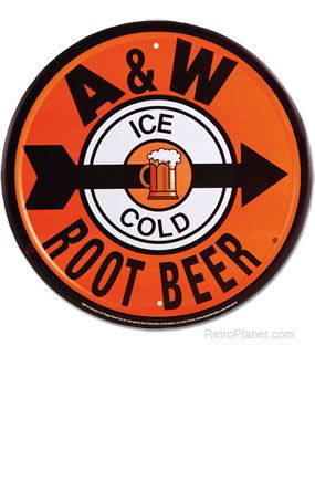 A & W Root Beer Metal Sign #22646 $11.89