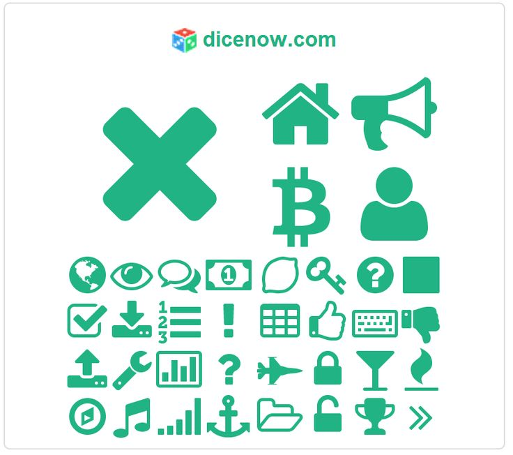 Font Awesome icon map of dicenow.com, discovered by fontawesome.info
