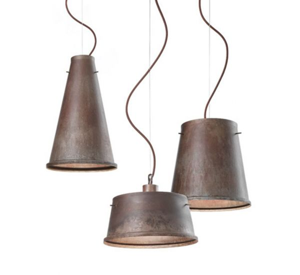 Designed by Il Fanale, Khonus is an indoor suspension lamp collection made in antiqued iron.Khonus is a collection that includes three suspension lamps models whitch presents with a functional design by the simple and linear lines. Made in iron, these lamps, thanks to their particular conical shape, are able to reflect the light both upwards than downward, donating a perfect brightness to the environment. Light source:1x E27 Max 77W 240V