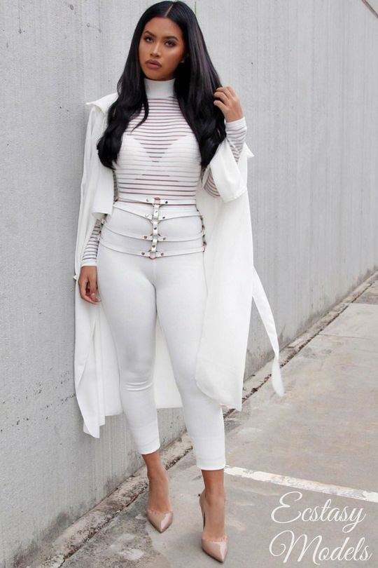 All White  Jumpsuit:@fashionnova (dc 'xostefney' for $$ off) - Harness: @bossastore Fashion Look by Stefney V.