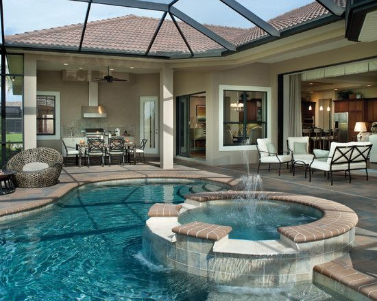 Florida homes design pictures remodel decor and ideas for Small lanai decorating ideas