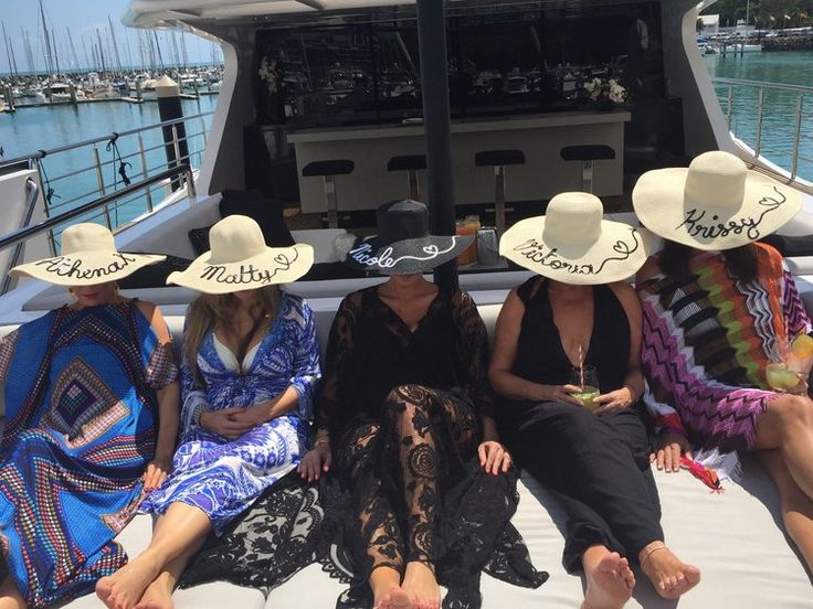 Personalised Sun Hats - Custom Embroidered Hats as seen on The Real Housewives of Sydney | Click to find out more