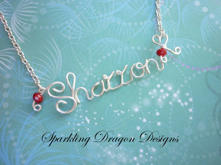 18 best Wire Name Necklaces - Order a personalised Necklace images ...