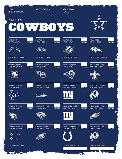dallas cowboys schedule 2014 - photo #14