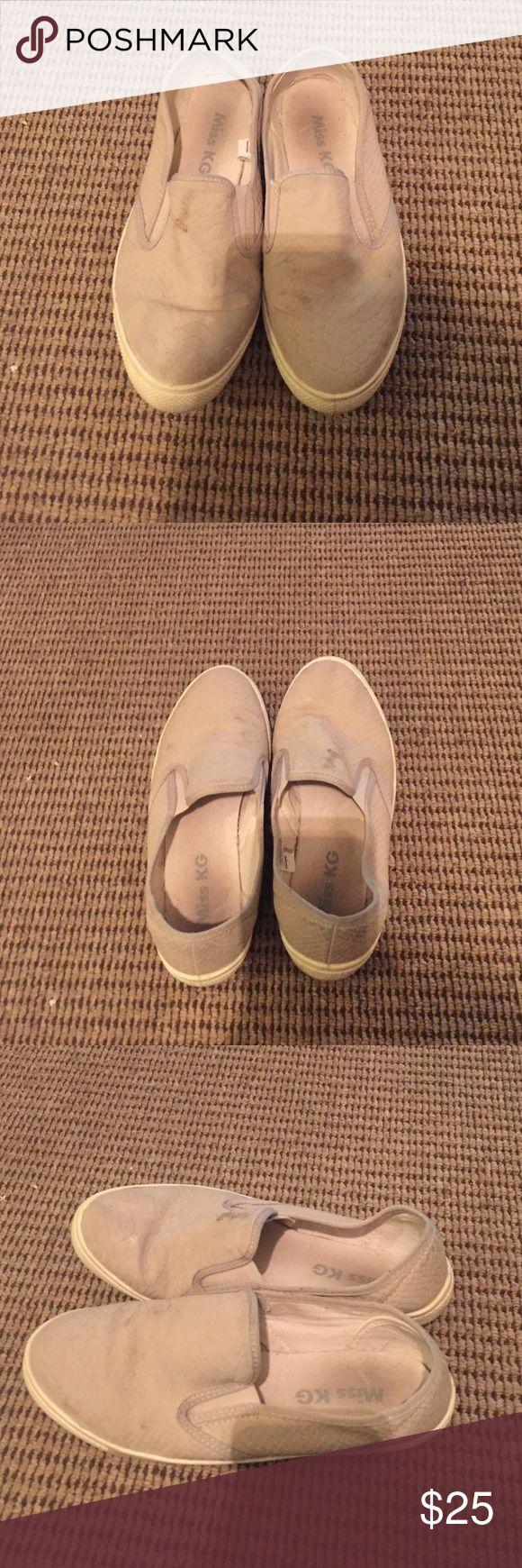 Kurt Geiger tan slip on sneakers Kurt Geiger tan slip on sneakers . Size 6. Made in Italy. kurt geiger Shoes Sneakers