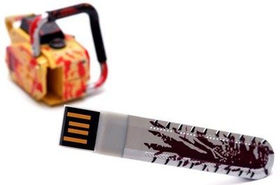 Cool Find: Bloody Chainsaw USB Flash Drive