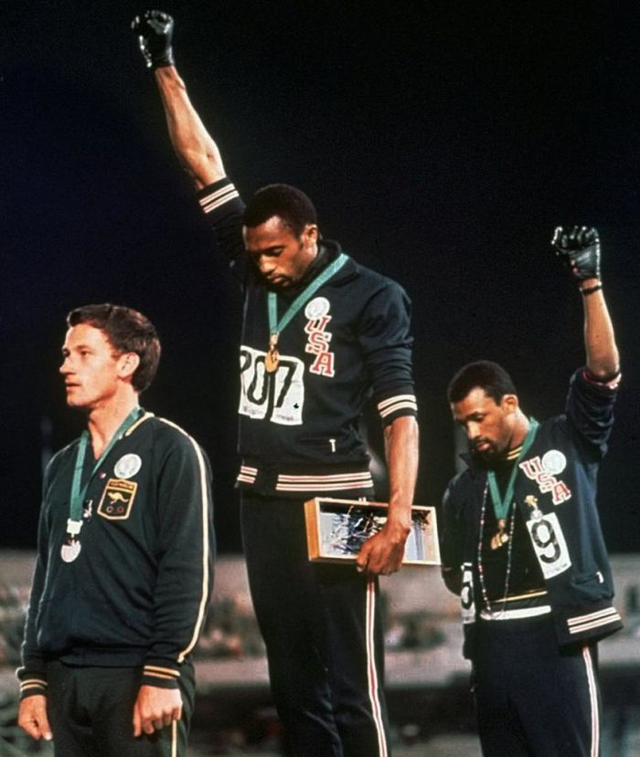 Peter Norman, John Carlos & Tommie Smith 1968 Olympics. Read about the heroism of Peter Norman!
