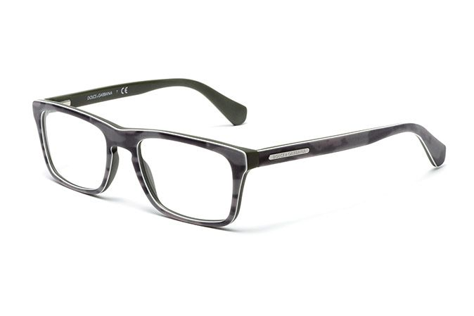 Dolce And Gabbana White Eyeglass Frames : Mens camouflage acetate eyeglasses with rectangular frame ...