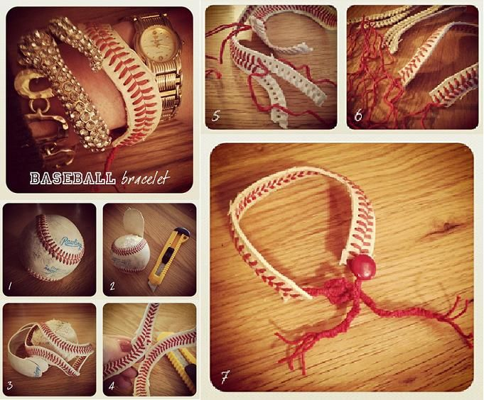 How to make beautiful Bracelets with baseball step by step DIY ... ... I think this is great! See more awesome stuff at http://craftorganizer.org