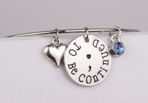 To Be Continued Semicolon Bracelet
