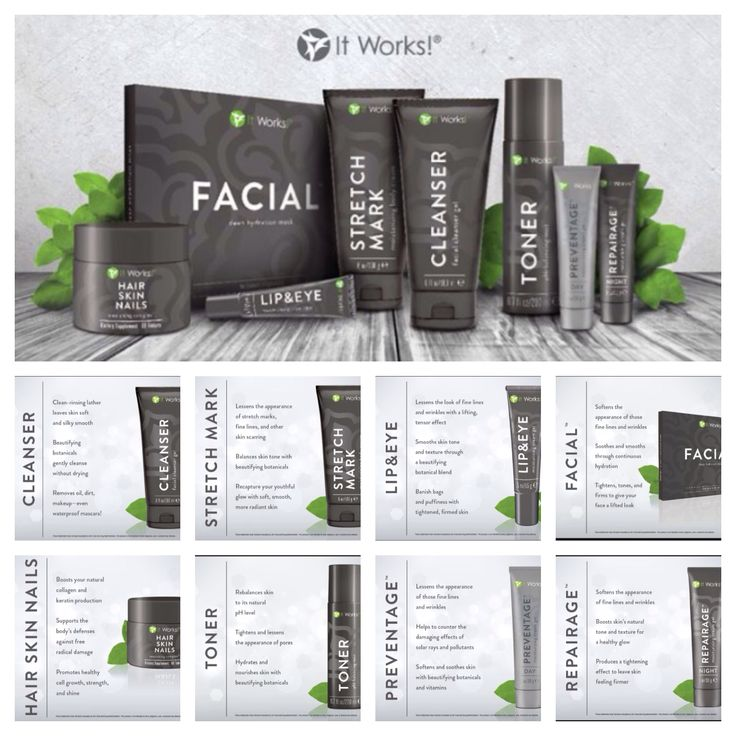 The It Works Skin Care Line email: wrapstarandrea@gmail ...