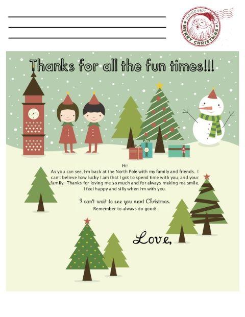 Elf Letter goodbye