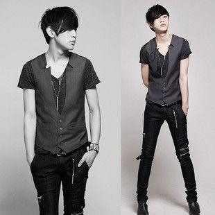 Taobao  11 wild skinny Korean fashion vest men vest Korean tidal skinny leisure stay china english wholesale