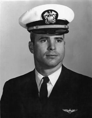 US Senator John McCain graduated from the U.S. Naval Academy in 1958. He became a naval aviator, flying ground-attack aircraft from aircraft carriers. During the Vietnam War, he was almost killed in the 1967 USS Forrestal fire. In October 1967, while on a bombing mission over Hanoi, he was shot down, seriously injured, and captured by the North Vietnamese. He was a prisoner of war until 1973. He retired from the Navy as a Captain in 1981.  #VietnamWarMemories