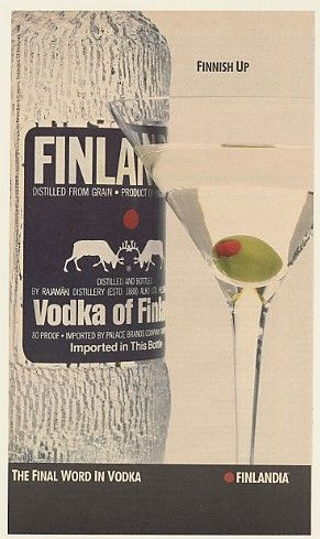 So, even though Purity Vodka from neighboring country of Sweden is my favorite, being 50% Finnish myself, I love the homeland vodka.  Or did, when I drank more often.