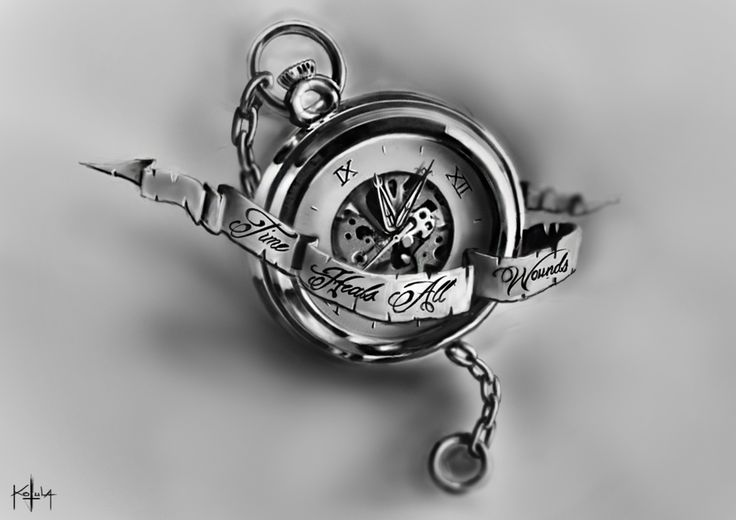 time heals all wounds by freezu tattoos pinterest it is clock and the o 39 jays. Black Bedroom Furniture Sets. Home Design Ideas