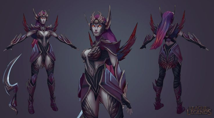 This was my texture pass on the Diana Dark Valkyrie skin (not the final release!). Diana ©Riot Games 2012