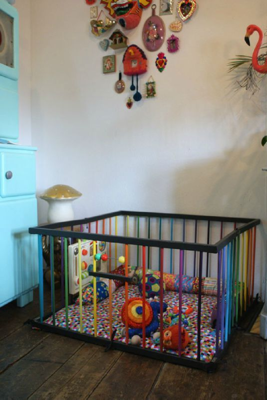 Rainbow playpen from Bliss Cocotte. i.love.this.