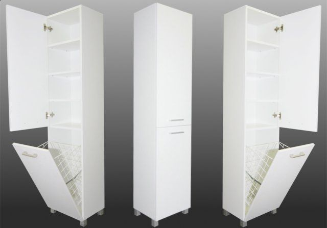 Tall Bathroom Cabinet With Laundry Basket 300mm Bathroom Tall Cabinet Tall Bathroom Storage Tall Bathroom Storage Cabinet