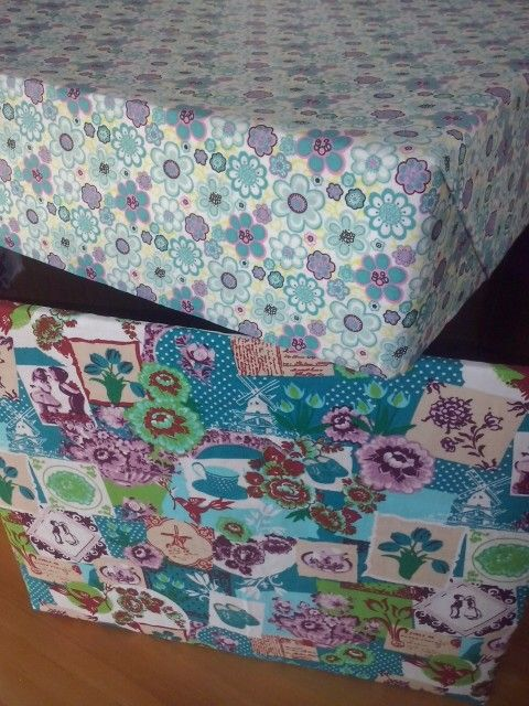 Self made box with fabric