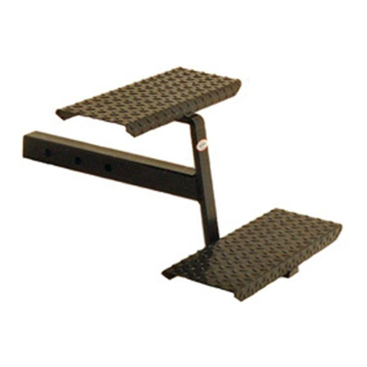 """Truck Bed Step- 2"""" Receiver Hitch Stairs w/ Two steel Steps RV Slide In Camper"""